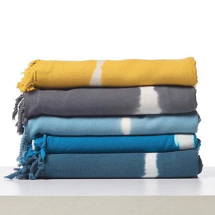Sky Blue Tie Dye Turkish Beach Towel
