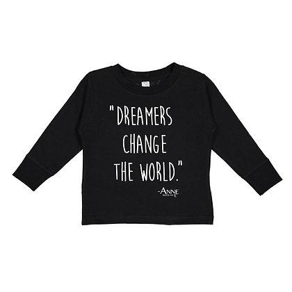 Dreamers Change the World - ANNE10v1 Toddler Long-Sleeve T-Shirt