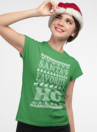 "New ""Santa's Ho"" Ladies Tee"