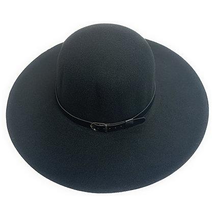 Mechaly Women's Madison Black Fedora Vegan Hat