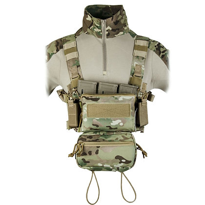 Tactical Micro Chest Rig Modular H Harness Combat Vest