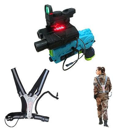 Laser Tag Player Unit -  Transformation Gun & Reflective Belt Vest