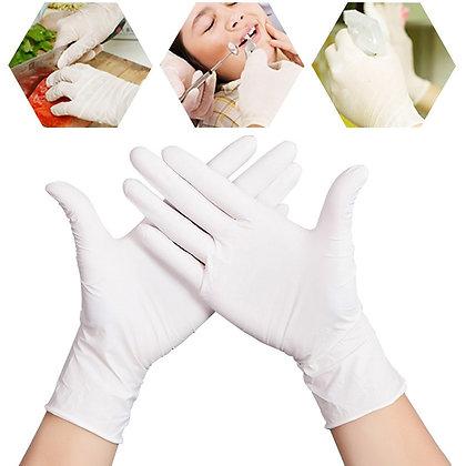 10pcs Disposable White Latex Gloves