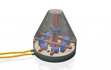 Контейнер с магнитными МF и НF датчиками