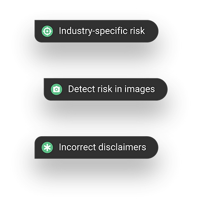 Advanced and automated industry-specific risk detection