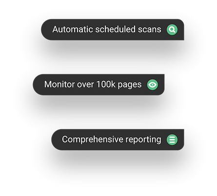 Monitor website pages with custom rules to ensure legal compliance
