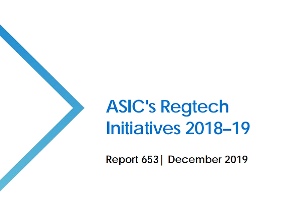 ASIC publishes findings from Regtech Symposium series