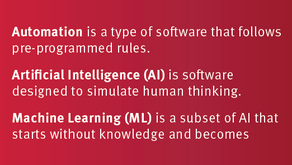 Automation vs AI & ML