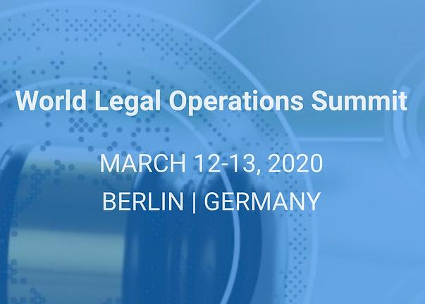 Event: Luxatia World Legal Operations Summit, Berlin, 2020