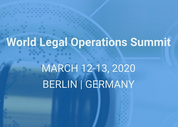 Event: Luxatia World Legal Operations Summit, Berlin, 2020