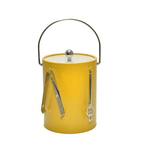 Yellow 5 qt. Ice Bucket With Bar Tools
