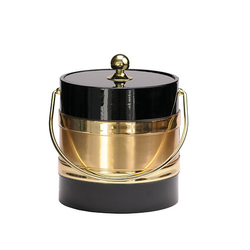 Black Patten with Gold Center 3 qt. Ice Bucket