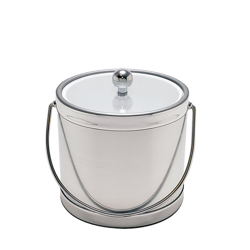 Brushed Silver 3 qt. Ice Bucket