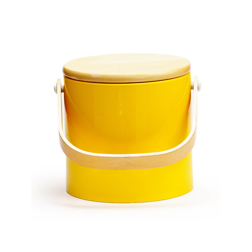 Yellow Beachwood 3 qt. Ice Bucket