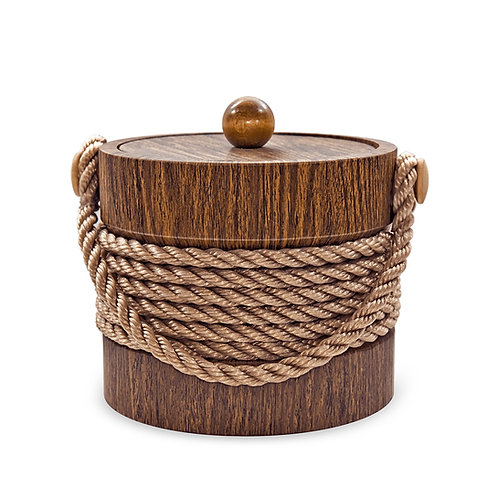 Wallnut with Brown Center Rope 3 qt. Ice Buck