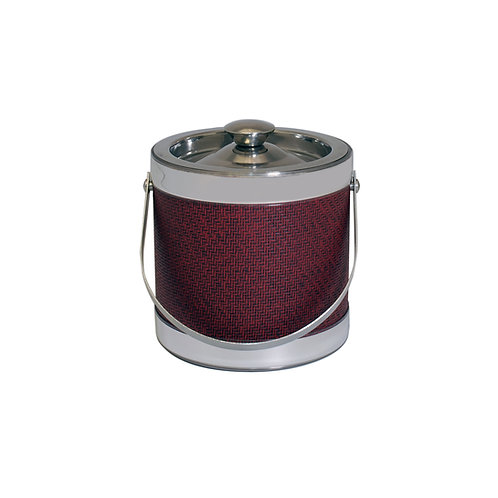 Stainless Steel With Berry Wicker 2 Qt. Ice Bucket