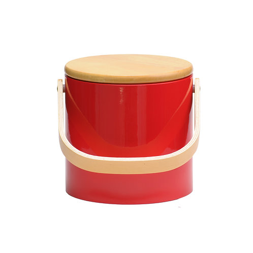 Red Beachwood 3 qt. Ice Bucket