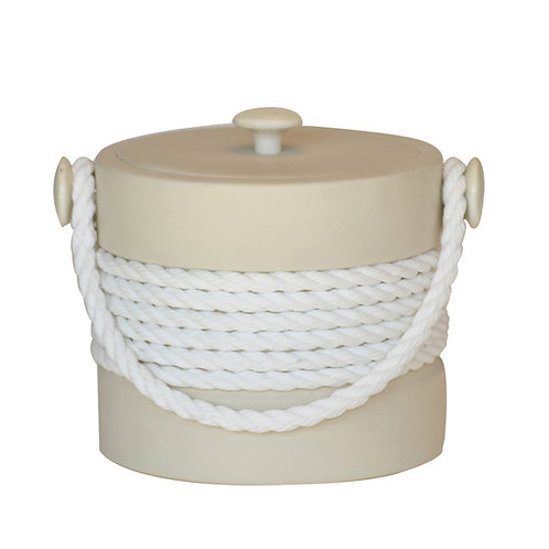 Beige with White Center Rope 3 qt. Ice Buck