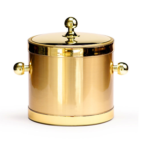 Brushed Gold with Metal Lid 3 qt. Ice Bucket