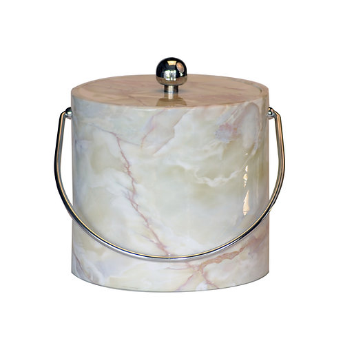 White Marble 3 qt. Ice Bucket