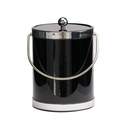 Black Patten with Dual Silver Bands 5 qt.