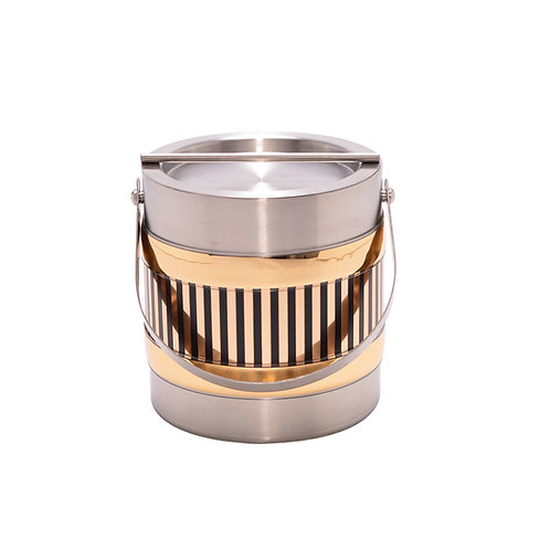 Stainless Steel w Gold Vert 2 Qt. Ice Bucket