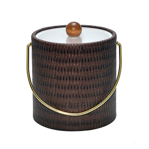 Maldives Espresso Wicker 3 qt. Ice Bucket