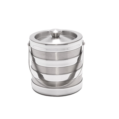 Stainless Steel with Bands 2 Qt. Ice Bucket