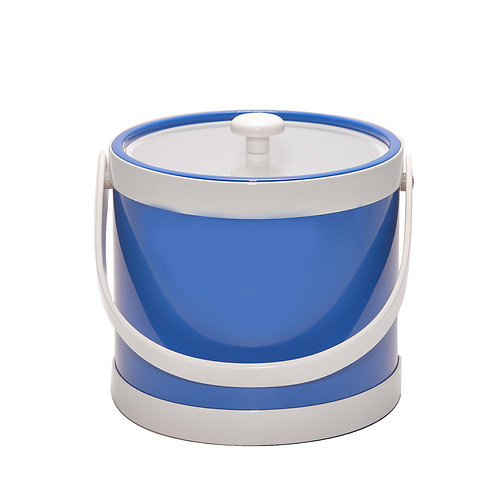 Blue Springtime 3 qt. Ice Bucket