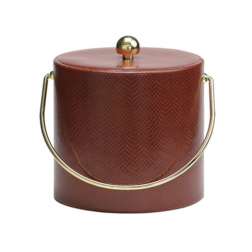Snake Skin Leatherette 3 Quart Ice Bucket