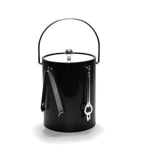 Black 5 qt. Ice Bucket With Bar Tools