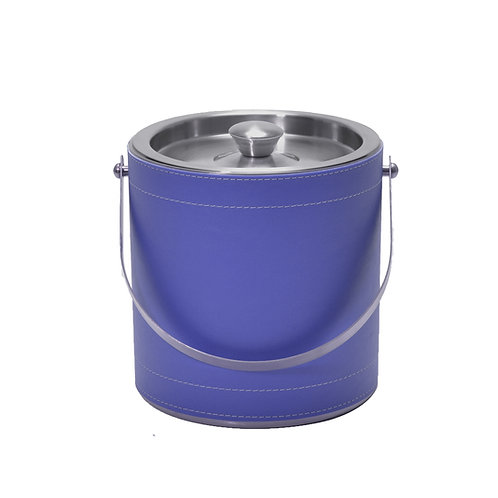 Blue Leatherette Stitched 3 QT. Ice Bucket