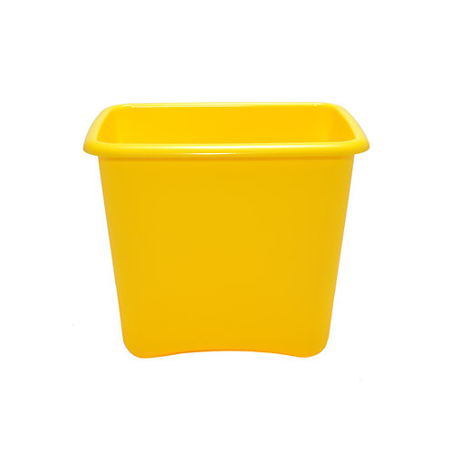 Yellow Plastic 13 Quart Waste Basket