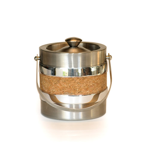 Stainless Steel with Cork 3 Qt. Ice Bucket