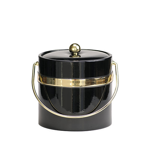 Black Patten with Single Gold Band 3 qt. Ice
