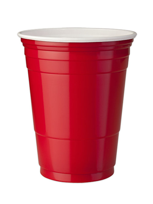 Red Party cups 16 oz. Set of 4