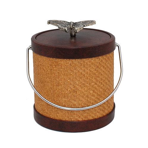 Bark Wicker with butterfly 3 qt Ice Bucket