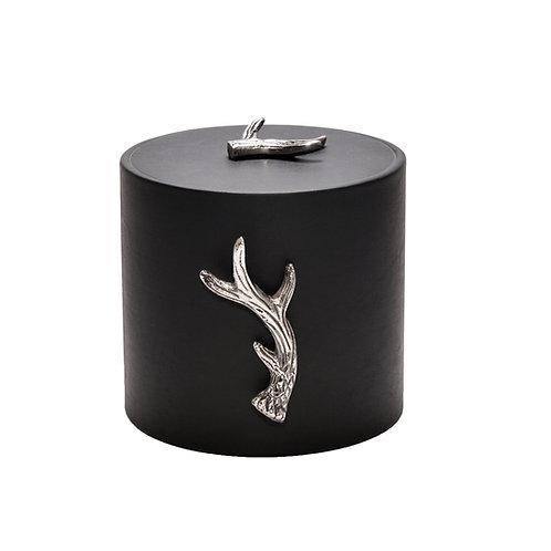 Black Italia Leatherette w Antlers 3 qt Ice Bucket