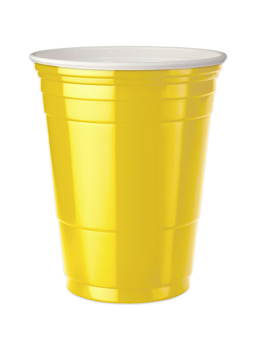 Yellow Party cups 16 oz. Set of 4