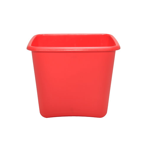 Red Plastic 13 Quart Waste Basket