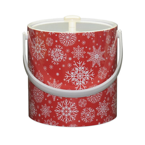 Snow Flake Christmas 3 qt. Ice Bucket