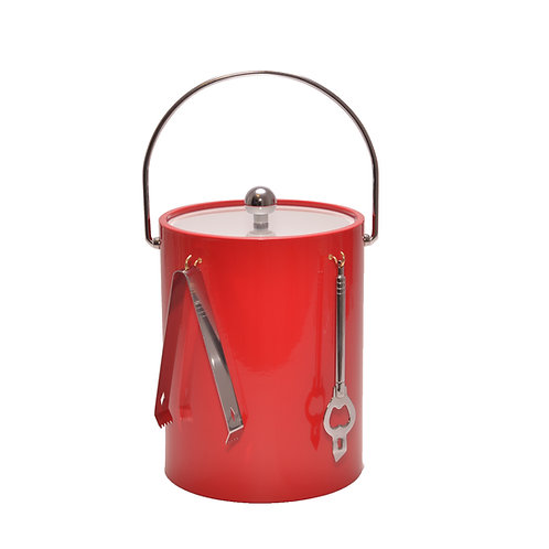Red 5 qt. Ice Bucket With Bar Tools
