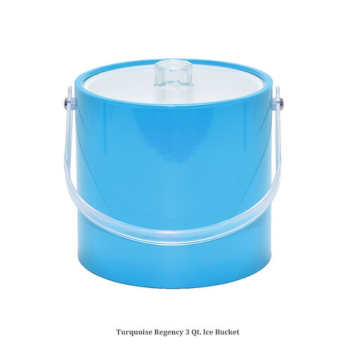 Turquoise Regency 3 qt. Ice Bucket