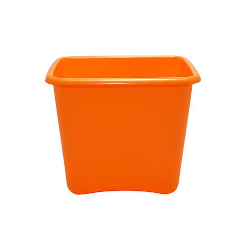 Orange Plastic 13 Quart Waste Basket