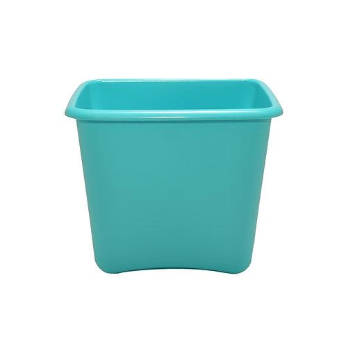 Turquoise Plastic 13 Quart Waste Basket