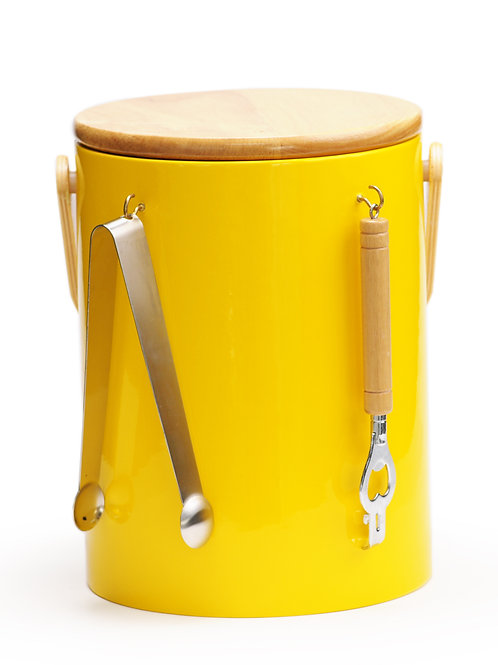 Yellow Beachwood 5 qt. Ice Bucket With Tool