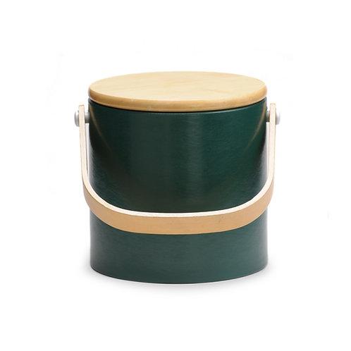 Dark Green Beachwood 3 qt. Ice Bucket
