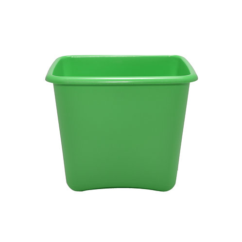 Green Plastic 13 Quart Waste Basket
