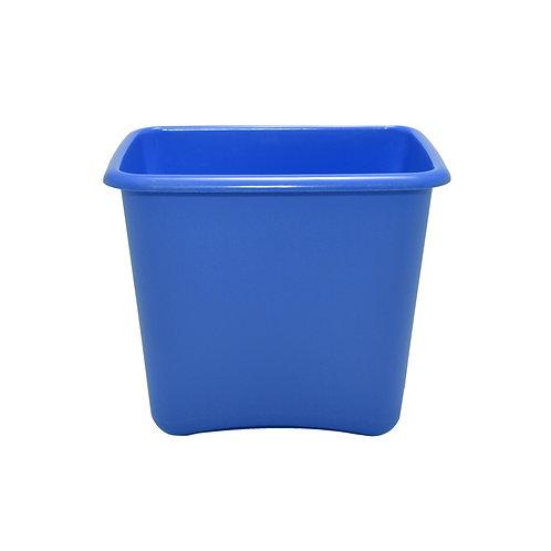 Blue Plastic 13 Quart Waste Basket