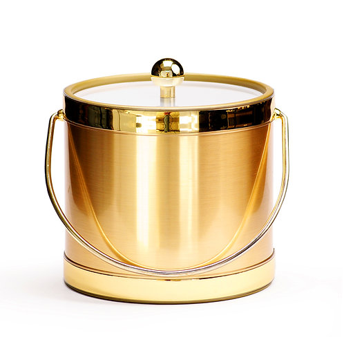 Brushed Gold 3 qt. Ice Bucket
